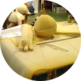 Pattern-making and carving. Muñecos animados